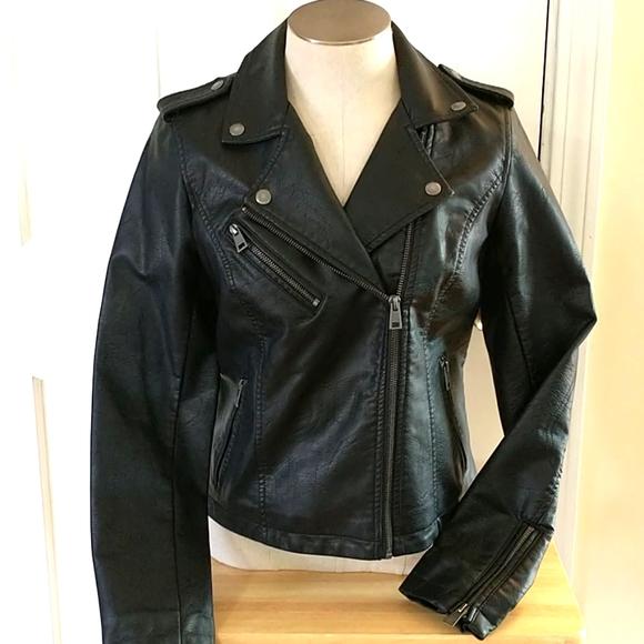 NEW Levi's Vegan Leather Moto Jacket Size Small